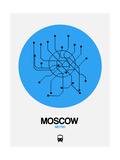 Moscow Blue Subway Map