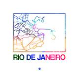 Rio De Janeiro Watercolor Street Map