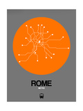 Rome Orange Subway Map