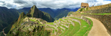 Inca City of Machu Picchu with Urubamba River  Urubamba Province  Cusco  Peru