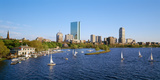 Back Bay and Charles River Boathouse  Charles River  Boston  Suffolk County  Massachusetts  USA