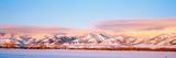 Snow Covered Mountains  Bridger Mountains  Rocky Mountains  Bozeman  Gallatin County  Montana  USA