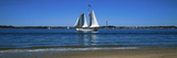 Sailboat in Ocean  Provincetown  Cape Cod  Barnstable County  Massachusetts  USA
