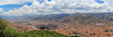 Elevated View of Cityscape from Saksaywaman  Cusco City  Cusco  Peru