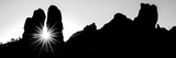 Silhouette of Cliffs at Arches National Park  Grand County  Utah  USA