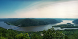 Elevated View of the Hudson River from Bear Mountain  Bear Mountain State Park