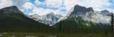 Clouds over Mountains  Emerald Peak  Yoho National Park  Golden  British Columbia  Canada