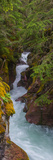 Elevated View of a Creek  Mcdonald Creek  Us Glacier National Park  Montana  USA