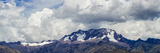 Low Angle View of the Chicon Mountain and Glacier  Cusco  Peru