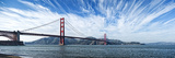 Suspension Bridge over Pacific Ocean  Golden Gate Bridge  San Francisco Bay  San Francisco