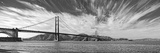 Suspension Bridge over Pacific Ocean  Golden Gate Bridge  San Francisco Bay  San Francisco