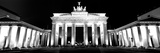 Low Angle View of a Gate Lit Up at Night  Brandenburg Gate  Berlin  Germany