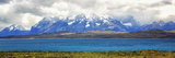 View of the Sarmiento Lake in Torres Del Paine National Park  Patagonia  Chile