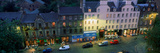 High Angle View of Pubs at Dusk in Grassmarket  Edinburgh  Scotland