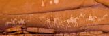 Petroglyphs on Sandstone  Canyon De Chelly National Monument  Arizona  USA