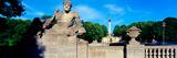 Statue on Luitpold Bridge and Angel of Peace (Friedensengel) in the Background  Munich