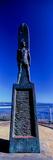 Surfer Monument at Coast  Santa Cruz  California  USA