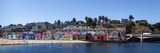 Colorful Buildings and Beach in Capitola  Santa Cruz County  California  USA