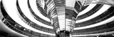 Interiors of a Government Building  the Reichstag  Berlin  Germany