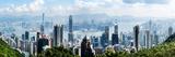 Elevated View of Skylines  Hong Kong  China