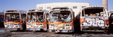 Graffiti Buses at Junkyard  San Francisco  California  USA