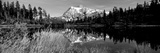 Reflection of Mountains in a Lake  Mt Shuksan  Picture Lake  North Cascades National Park