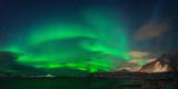 Aurora Borealis Above Ramberg  Lofoten  Nordland  Norway