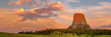 Devils Tower at Sunset  Devils Tower National Monument  Crook County  Wyoming  USA