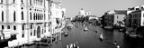 High Angle View of Gondolas in a Canal  Grand Canal  Venice  Italy
