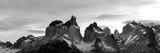 Snowcapped Mountain Range  Paine Massif  Torres Del Paine National Park  Magallanes Region