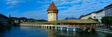 Chapel Bridge on the Reuss River  Lucerne  Switzerland