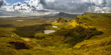 Elevated View from Quiraing at Trotternish Ridge  Isle of Skye  Scotland