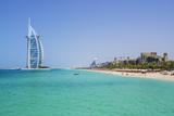 Burj Al Arab Hotel  Iconic Dubai Landmark  Jumeirah Beach  Dubai  United Arab Emirates  Middle East