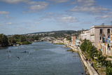 View over People Kayaking in Rio San Juan and the City of Matanzas  Cuba  West Indies