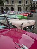 Vintage American Cars  Havana  Cuba  West Indies  Caribbean  Central America