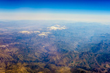 Aerial View of Kashmir Mountains  Near the Border of Pakistan and Afghanistan  Asia