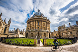 Radcliffe Camera with Cyclist  Oxford  Oxfordshire  England  United Kingdom  Europe