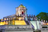 Phra Sumen Fort (Pom Pra Sumen) at Night  Bangkok  Thailand  Southeast Asia  Asia