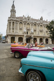 Vintage American Cars Parked Outside the Gran Teatro (Grand Theater)  Havana  Cuba