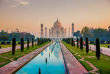 Sunrise at the Taj Mahal  UNESCO World Heritage Site  Agra  Uttar Pradesh  India  Asia