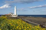 St Mary's Lighthouse  Whitley Bay  Northumbria  England  United Kingdom  Europe