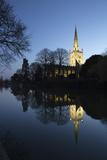 Holy Trinity Church on the River Avon at Dusk  Stratford-Upon-Avon  Warwickshire