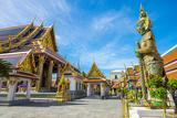 Yaksha Thotsakhirithon Statue in Front of Phra Ubosot  Temple of the Emerald Buddha (Wat Phra Kaew)