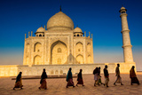 People Walking to Pray in Front of the Taj Mahal  UNESCO World Heritage Site  Agra