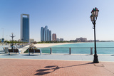 View from the Breakwater Towards Abu Dhabi Oil Company Hq and Etihad Towers  Abu Dhabi