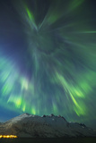A Coronal Burst of Aurora Borealis (Northern Lights) During a Solar Storm in Northern Norway