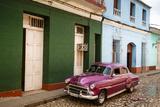 Old American Vintage Car  Trinidad  Sancti Spiritus Province  Cuba  West Indies