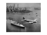 DC-3  SS Normandie  New York  1938