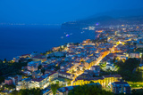 Panoramic View of Sorrento at Night  Sorrento  Amalfi Coast  UNESCO World Heritage Site  Campania