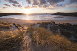 Ribbed Sand and Sand Dunes at Sunset  Crantock Beach  Crantock  Near Newquay  Cornwall